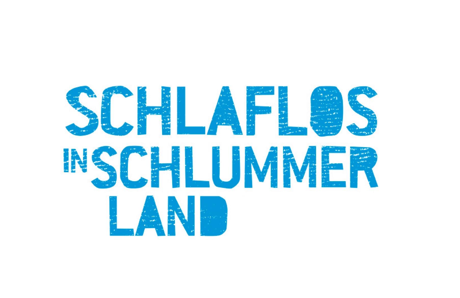 Schlaflos in Schlummerland - Schriftzug